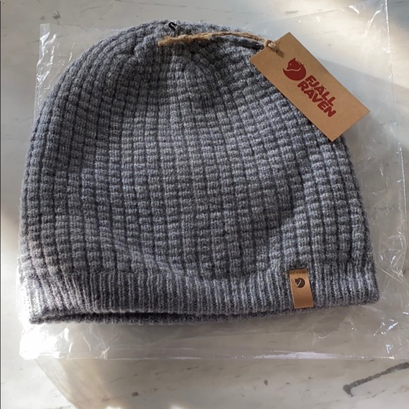 Fjallraven Ovik Folk Knit Beanie Dark Grey Spring Offers